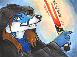 Conbadge -- Bluefox by dani-kitty