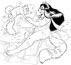 Thou and I -- INKS by dani-kitty