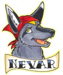 Conbadge -- Nevar by dani-kitty