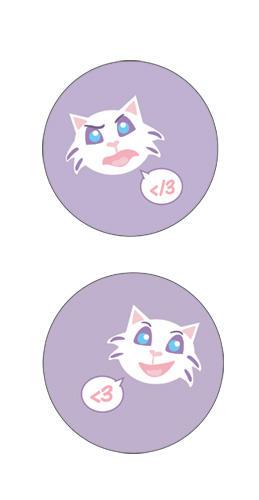 Dani-kitty buttons