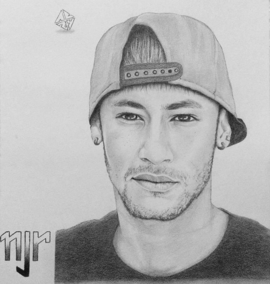 Neymar portrait sketch by ab24rt
