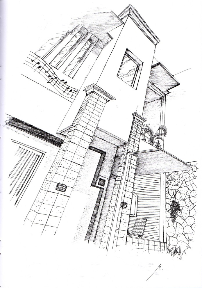 Architecture Sketch By Mahatta193