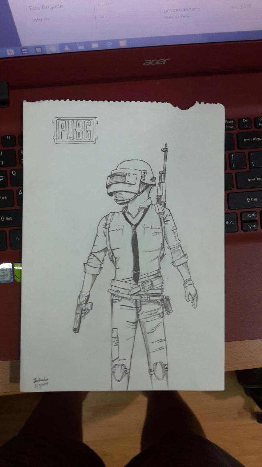 Improved Version Of My Pubg Drawing By Johnathanlim On