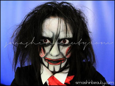 Jigsaw Billy Doll Halloween Makeup by smashinbeauty on ...