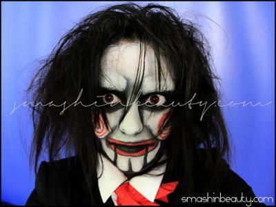 Jigsaw Billy Doll Halloween Makeup by smashinbeauty on ...