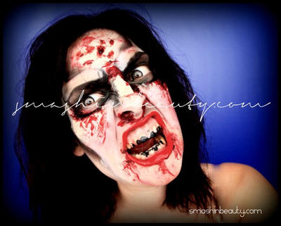 The Walking Dead Zombie Makeup by smashinbeauty