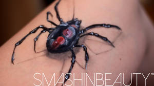 3D Spider Black Widow Face Paint Tutorial