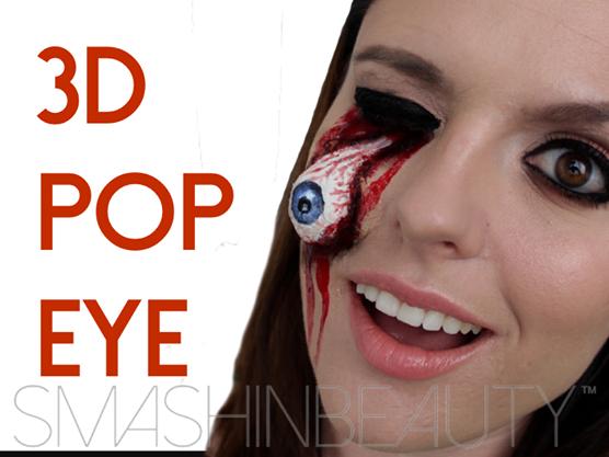 3D Pop Eye (EASY) Halloween Makeup Tutorial by smashinbeauty