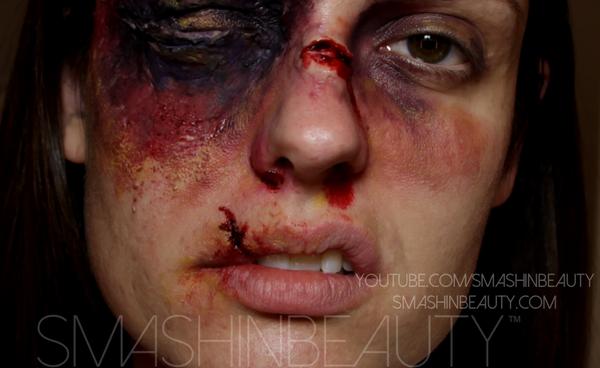 Broken Nose & Cut Lip Sfx Makeup Tutorial by smashinbeauty