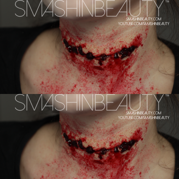 Cut Throat SFX Makeup Tutorial by smashinbeauty