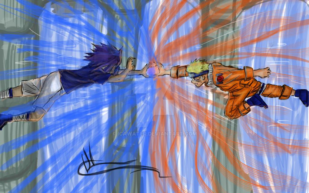 Naruto vs. Sasuke // Rasengan vs. Chidori by IcaWater on ...