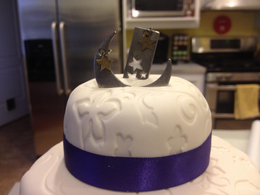 Miniature Wedding Cake - Starry Night Themed by keizo27 on DeviantArt