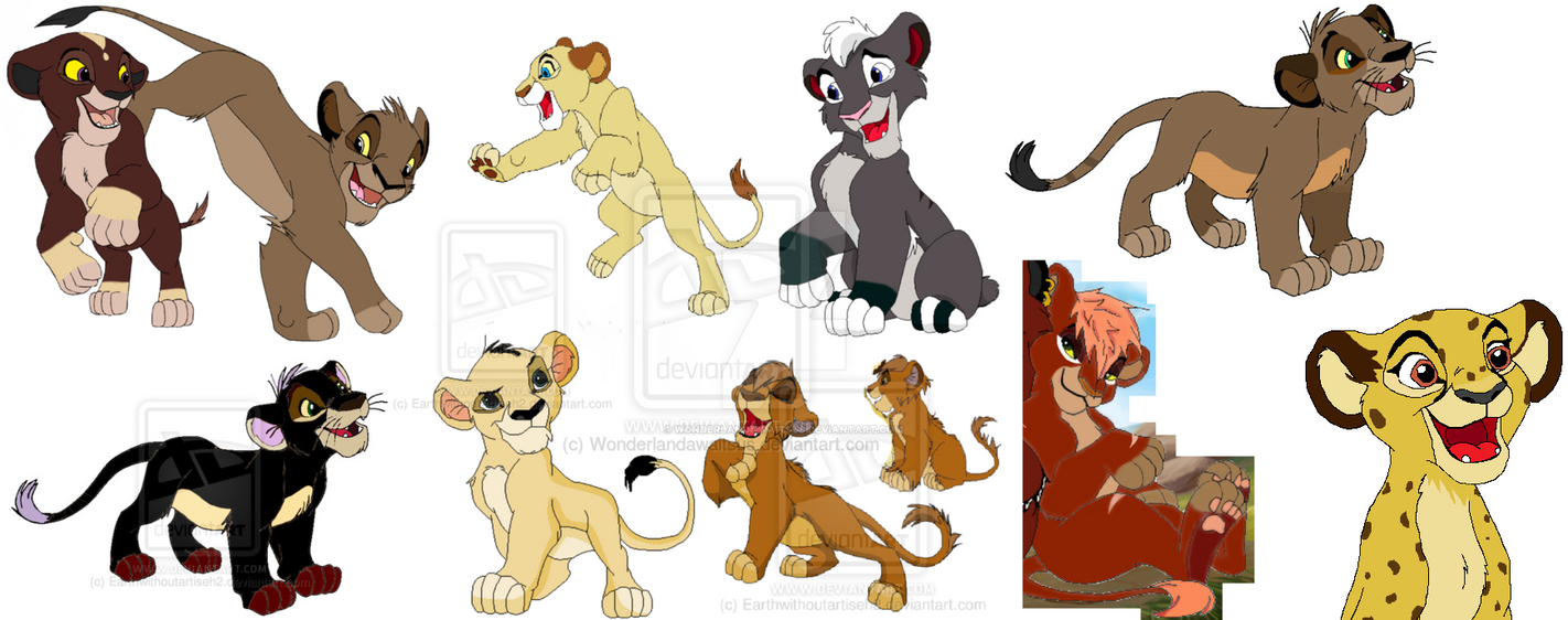 My cubs I've adopted (updated) by Wonderlandawaitsus