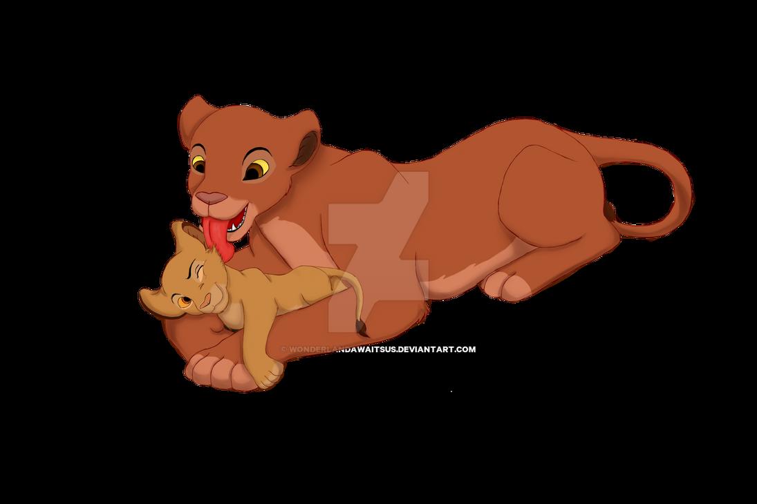 Imara and Sarabi by Wonderlandawaitsus