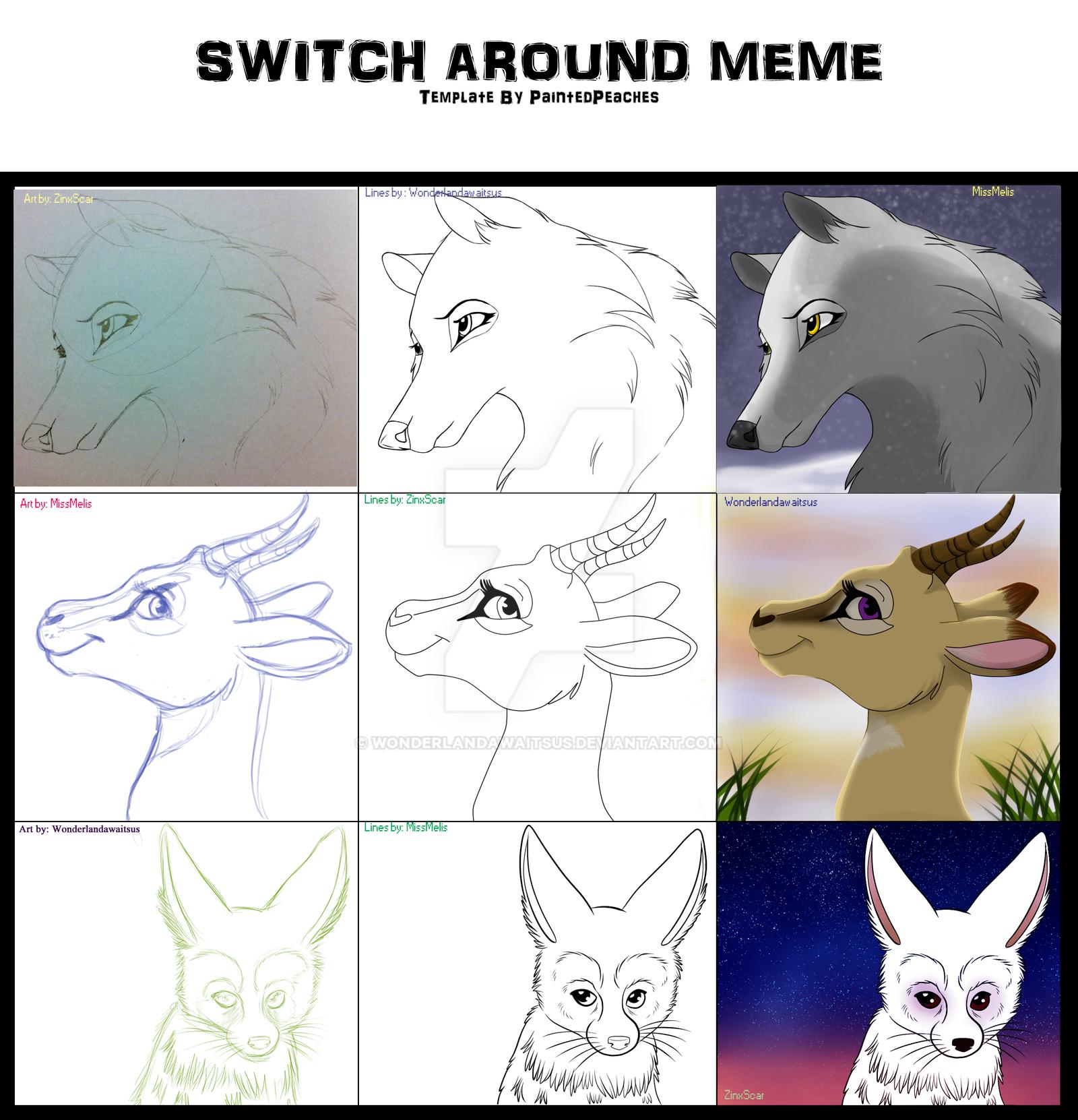 Switch Around Meme by Wonderlandawaitsus