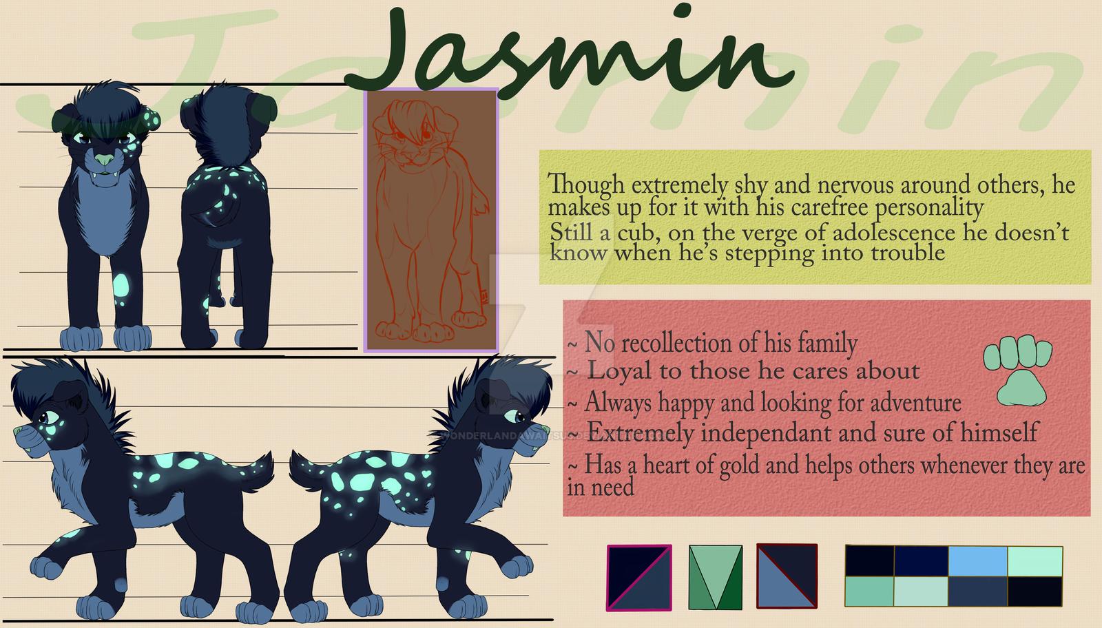 Jasmin Ref. Sheet revamped by Wonderlandawaitsus