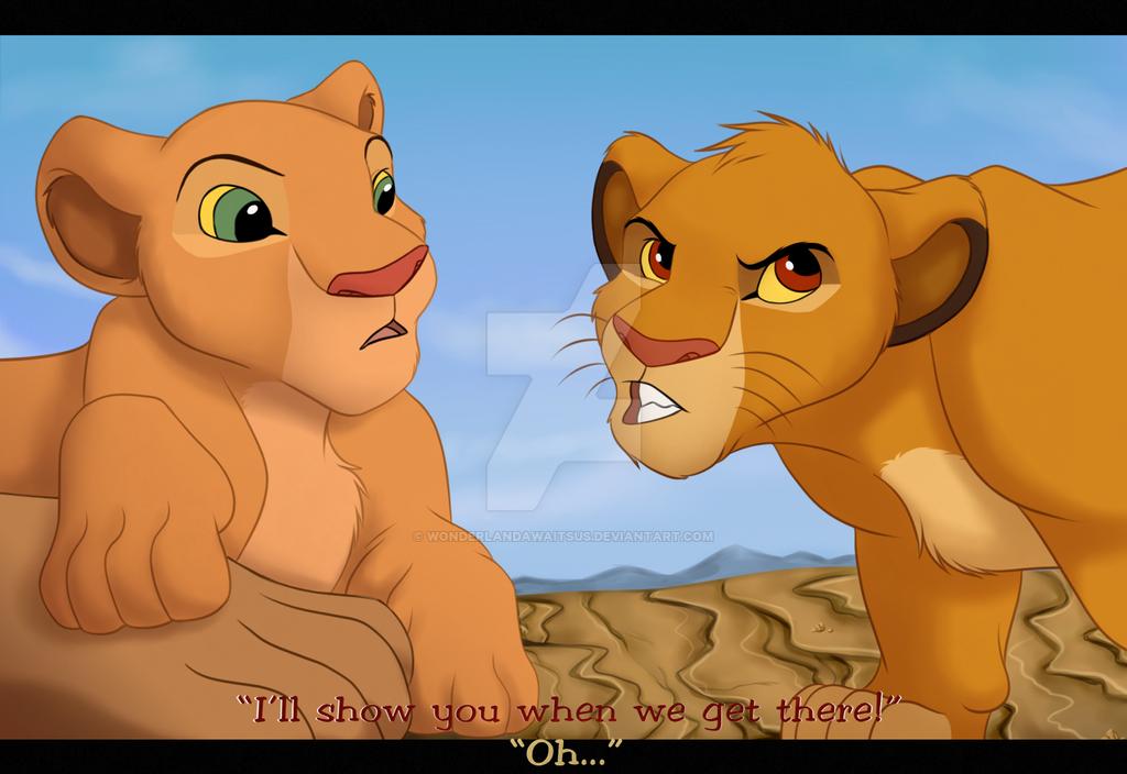 Off to  adventure (Lion King screenshot) by Wonderlandawaitsus