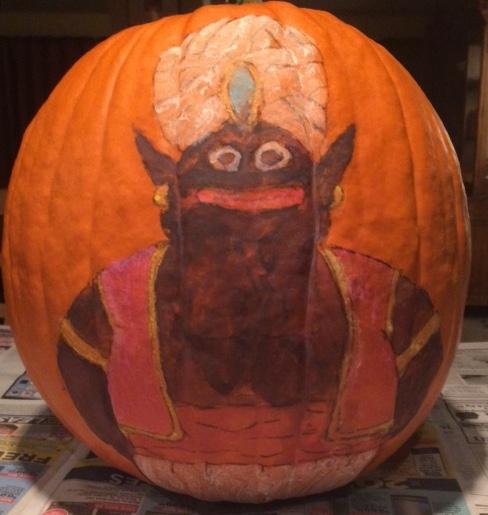 Happy Halloween with Pumpkin Mr. Popo by Dragon-KnightGuvz19