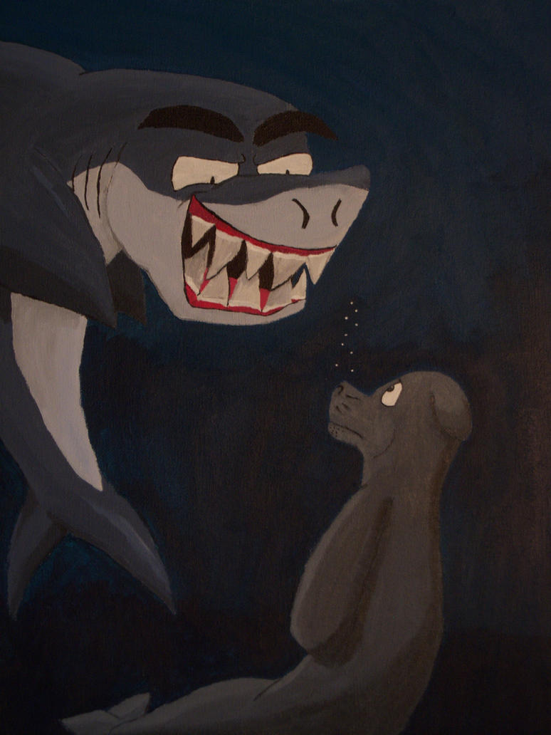 Shark and Seal Painting by Glamator