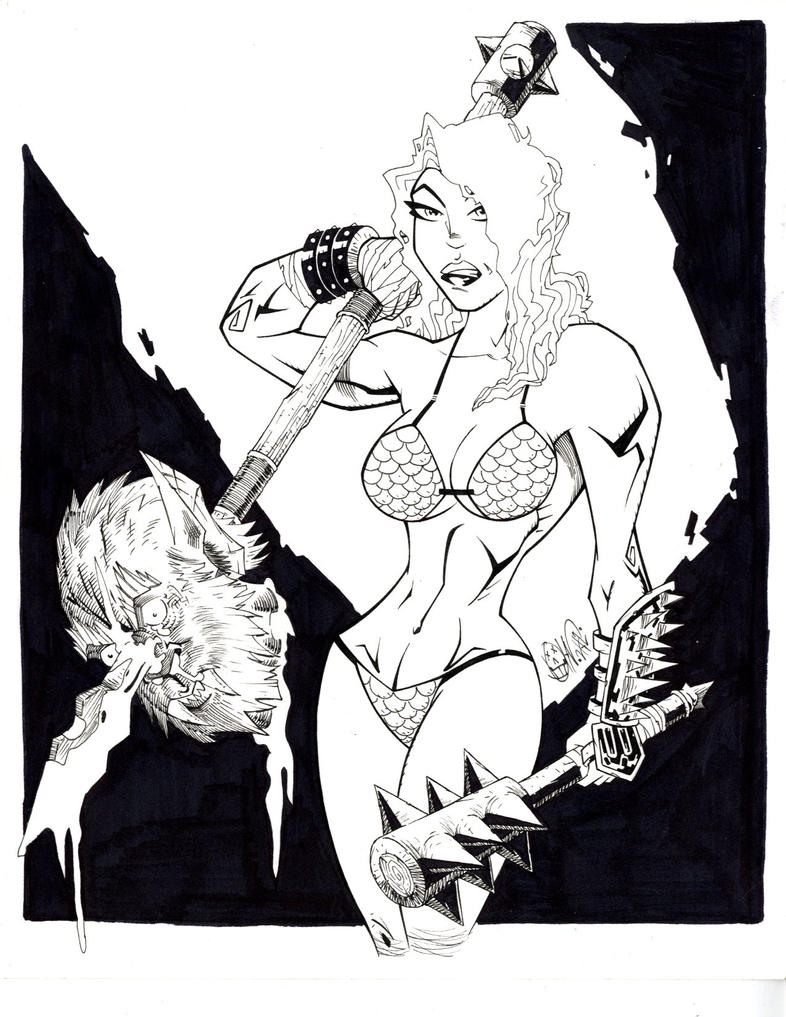 RED SONJA w.i.p by drawhard