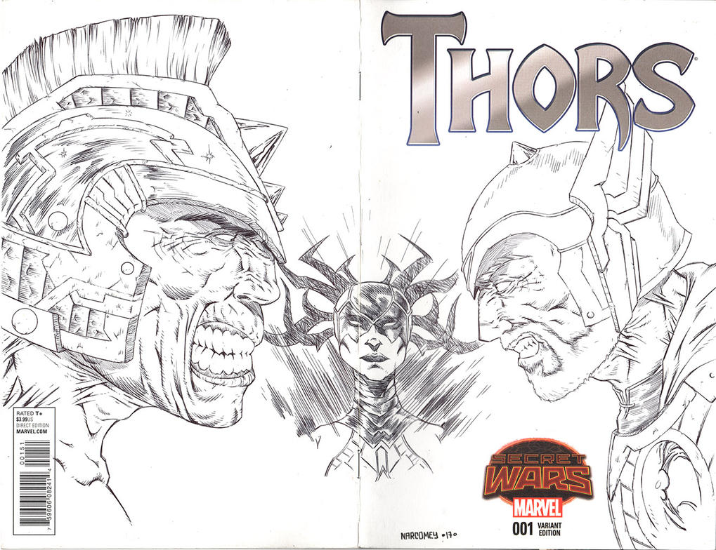 SECRET WARS THORS 01 sketch cover by drawhard