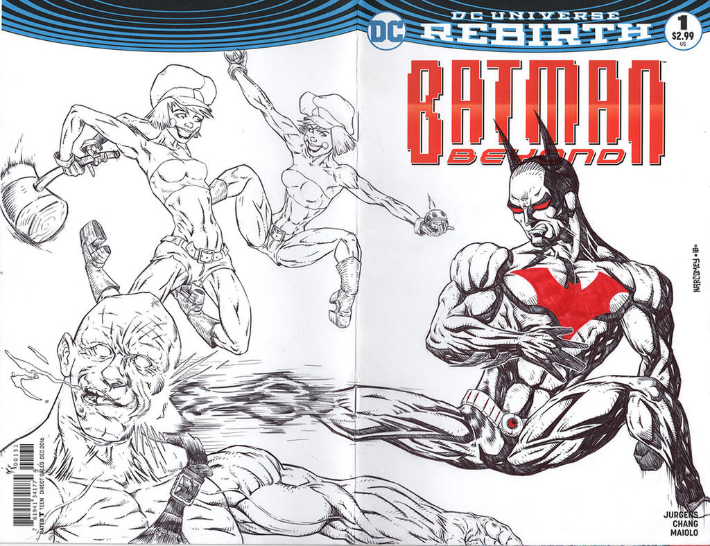 BATMAN BEYOND sketch cover by drawhard