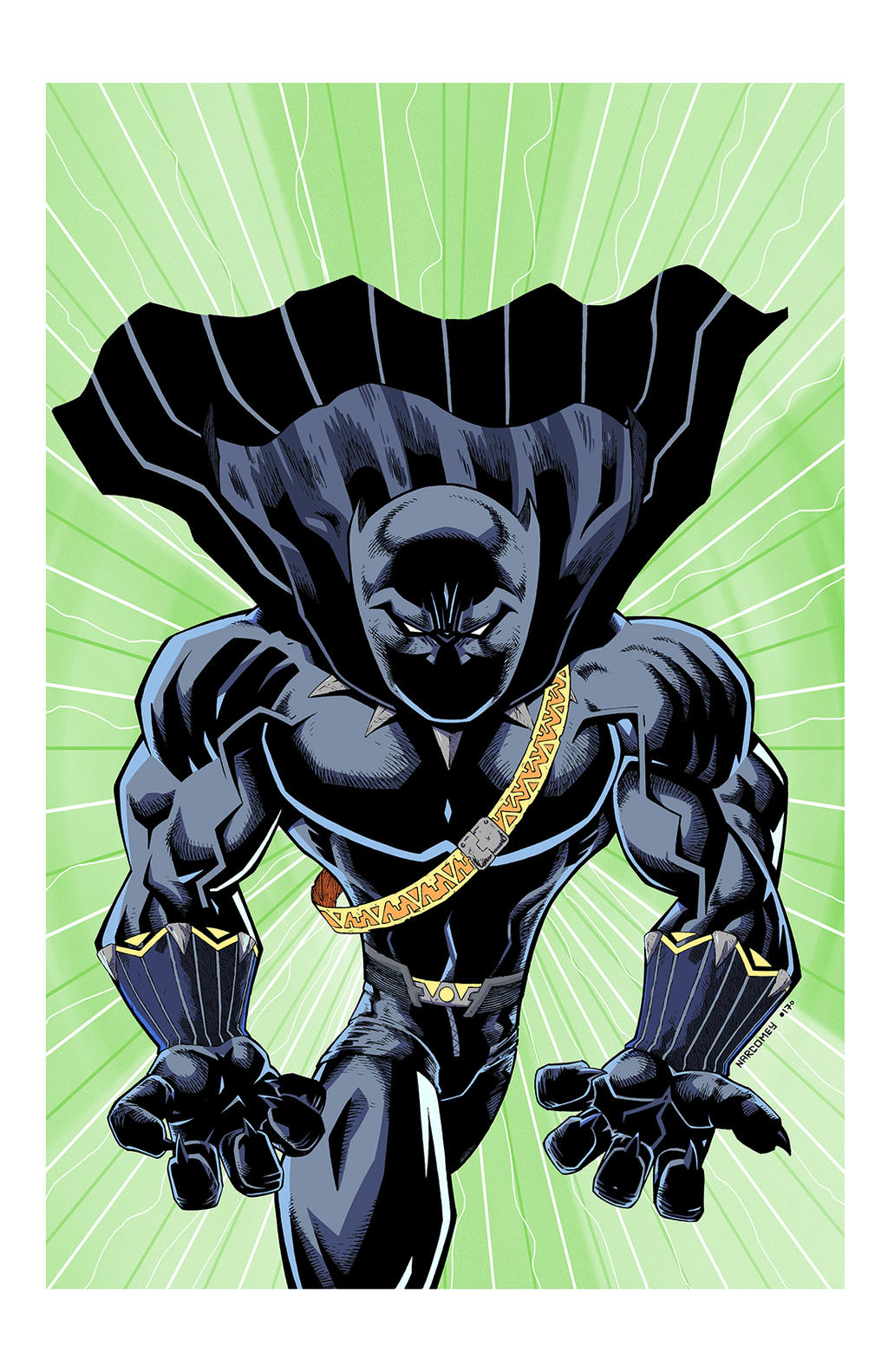 BLACK PANTHER color by drawhard