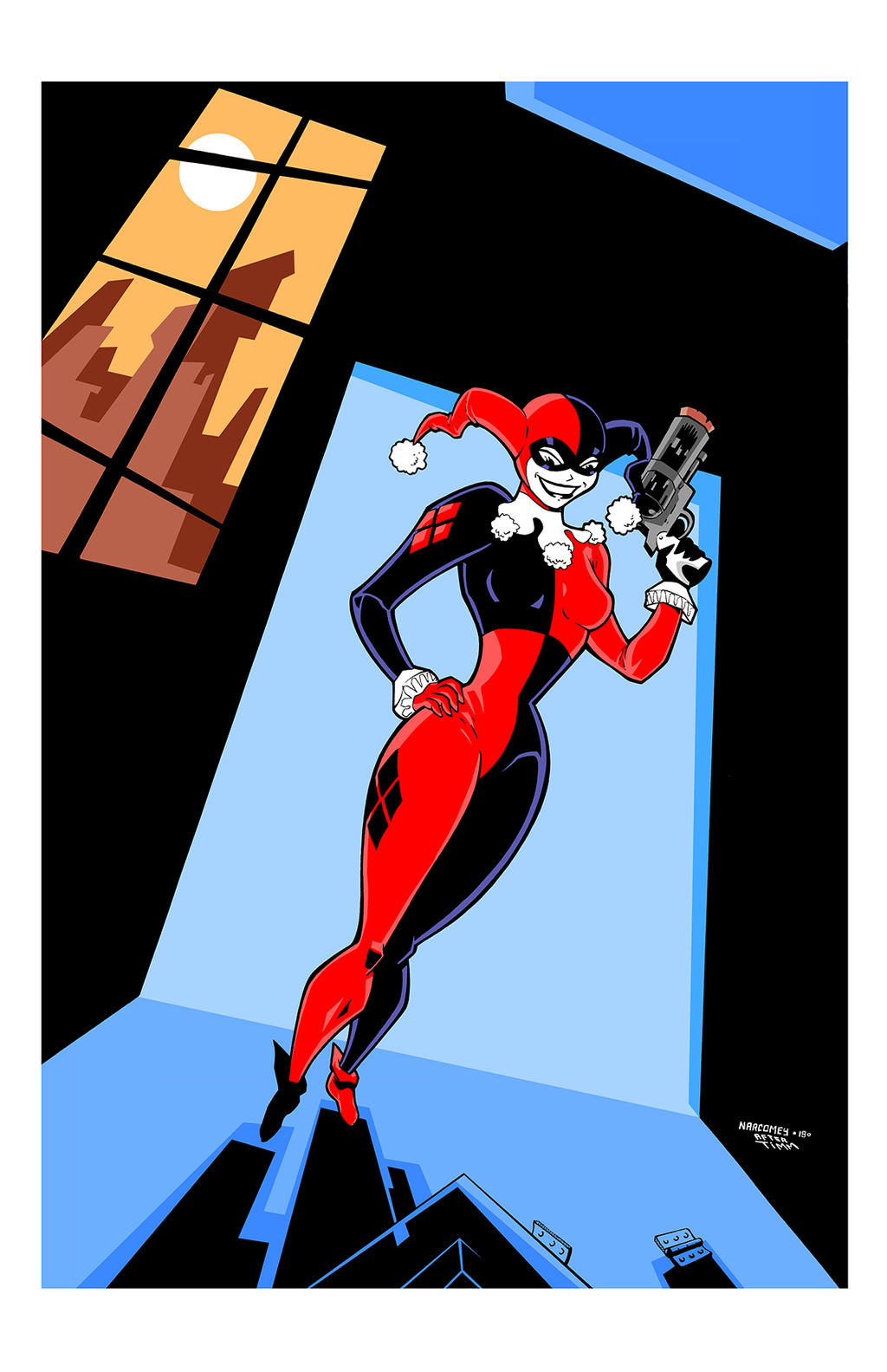 HARLEY QUINN color by drawhard