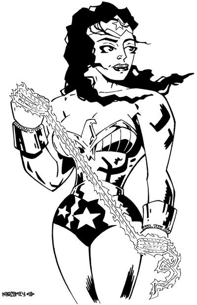 WONDER WOMAN  by drawhard