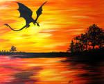 Dragon at Sunset