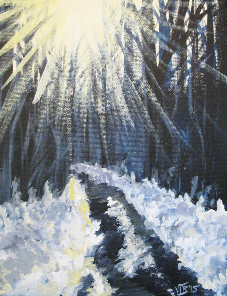 Snowy Path by Umberink