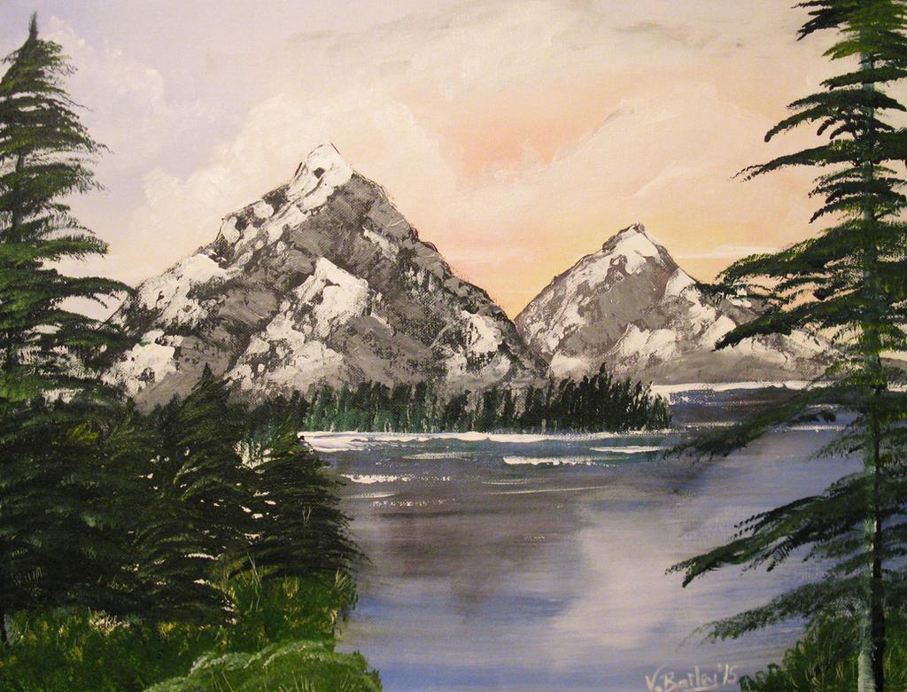 Evergreen Lake by Umberink