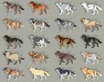 Semi-Realistic Wolf Adopts - Set 27 - OPEN