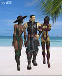Kung Lao, Jade and Mileena