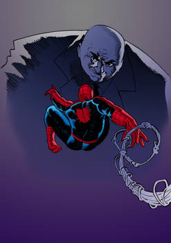 Spider-man against the Kingpin of Crime