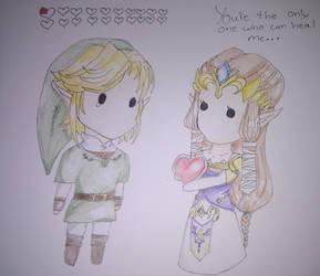 Link X Zelda Only one by tiwa55
