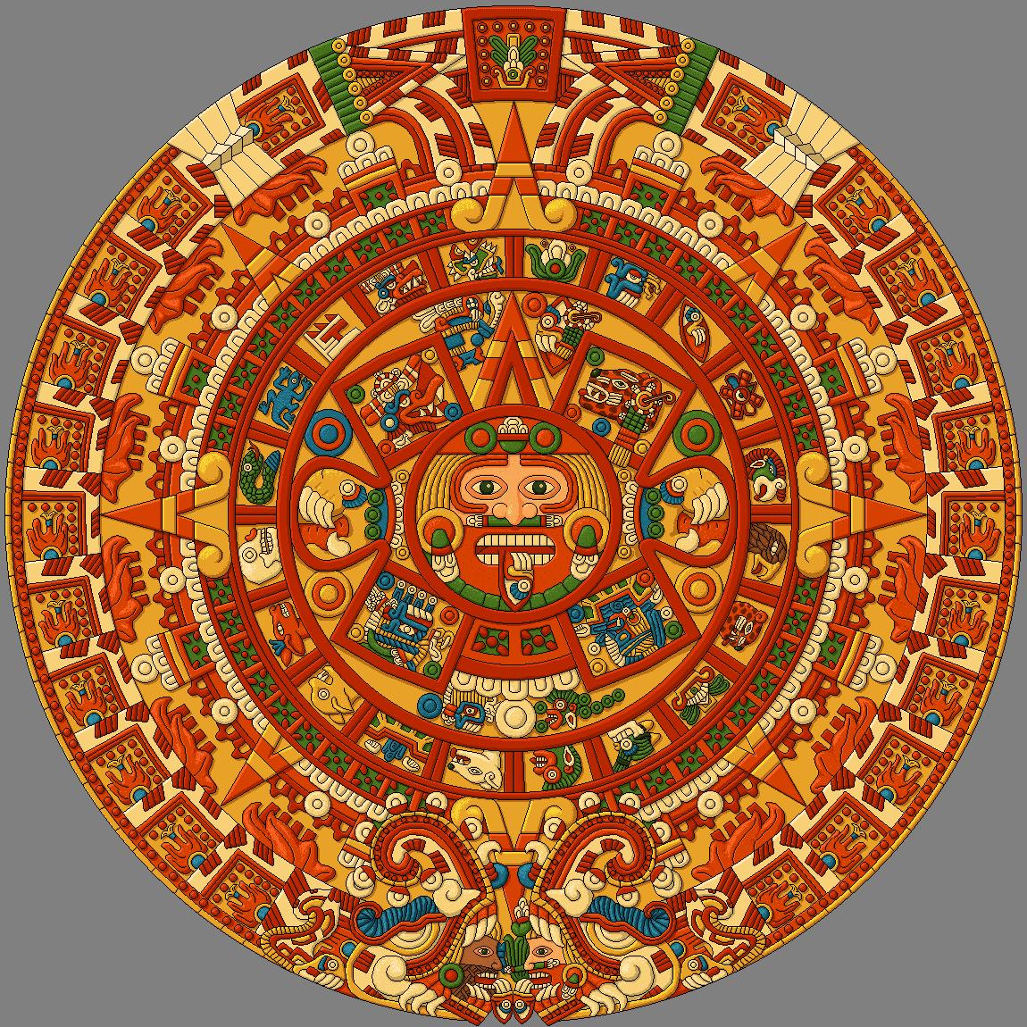 Aztec Calendar Drawing : Aztec calendar by kyodai on deviantart