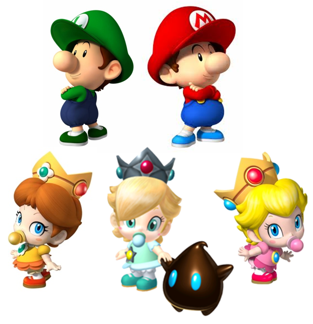 The Mario Babies by jordannypoo