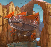 Red Storm Zeppelin by sensevessel