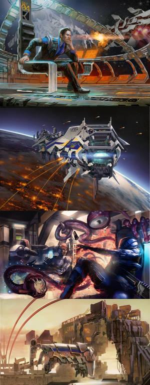 Space Clash TCG artwork