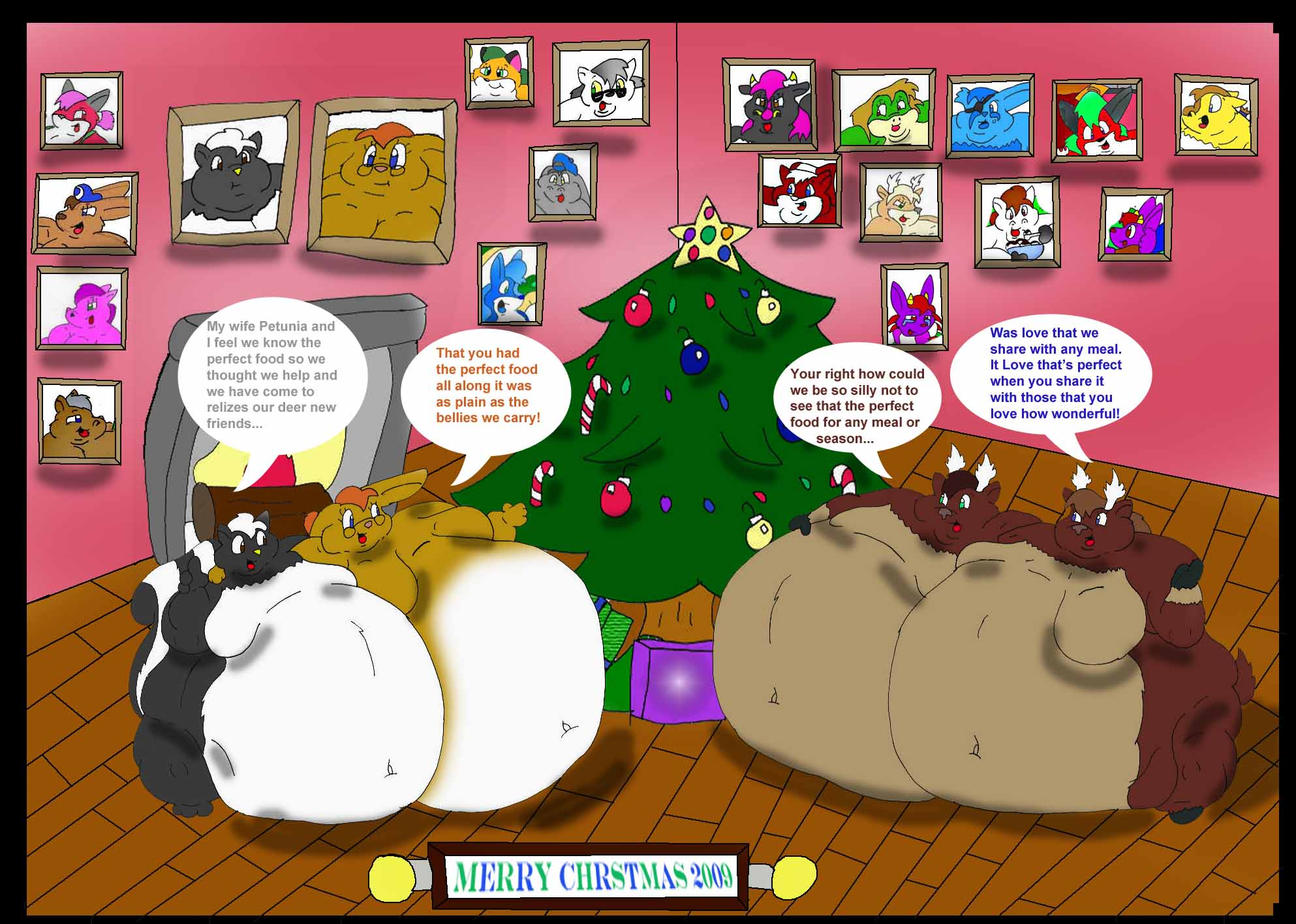 Fat Furs Weight Gain: The Perfect Christmas Food 14 By Sakenskunk On DeviantArt
