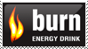 Burn Energy Drink Stamp by Smackthatpicture
