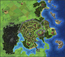 Fellwick - Town Map by StarRaven