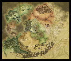 Map of Shalyeun v2 WIP by StarRaven