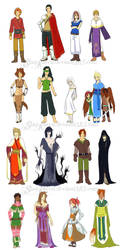 RO Character Designs 1-18 by StarRaven