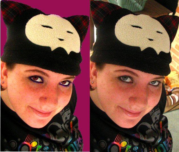 Me. Original vs edited by EvilPurpleChicken