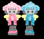 Pixie twins battle sprites