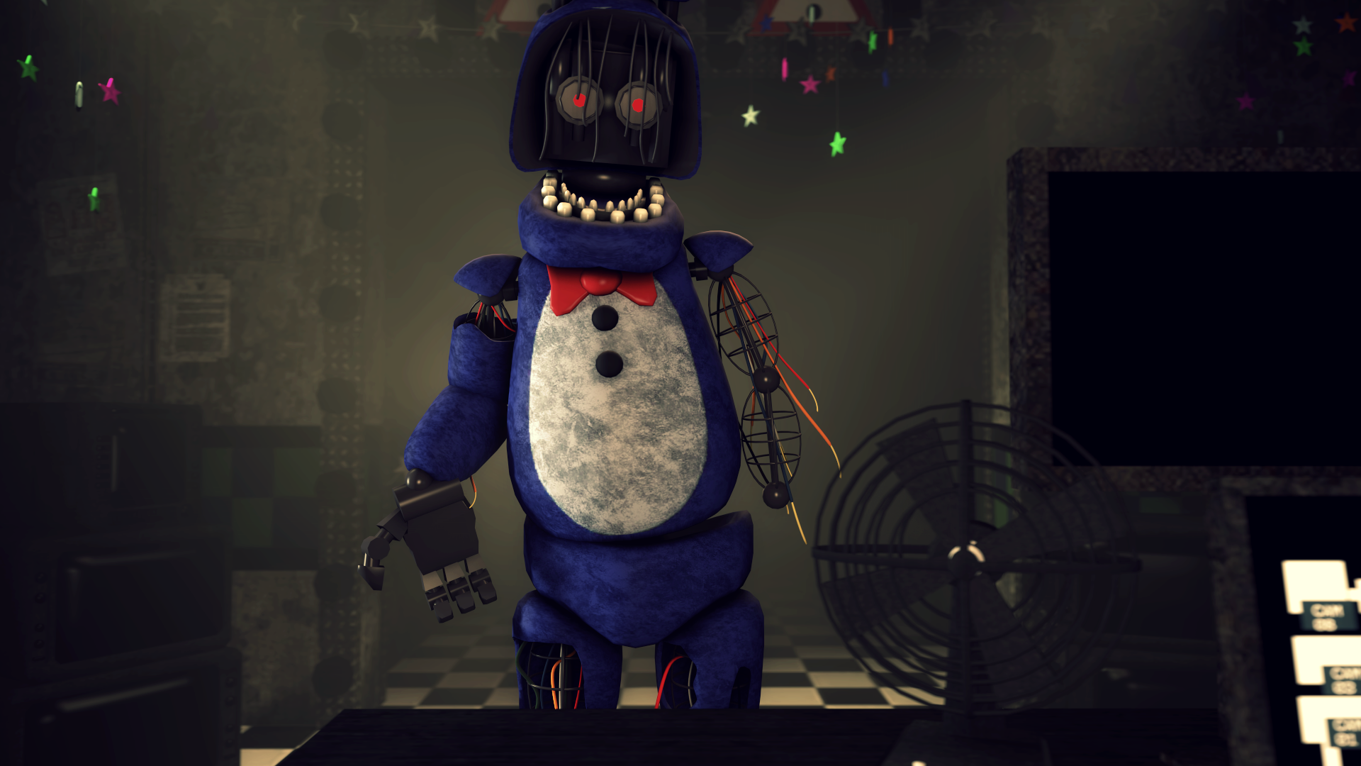 Gimme My Face Withered Bonnie Fnaf 2 Poster By Scruffygamer On Deviantart