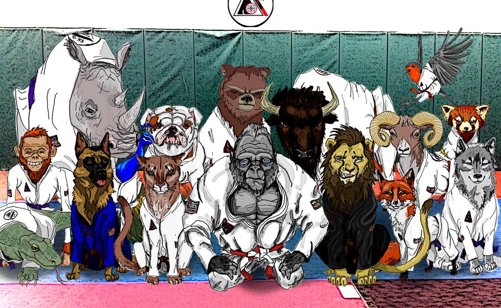 Animal Dojo by HRDART