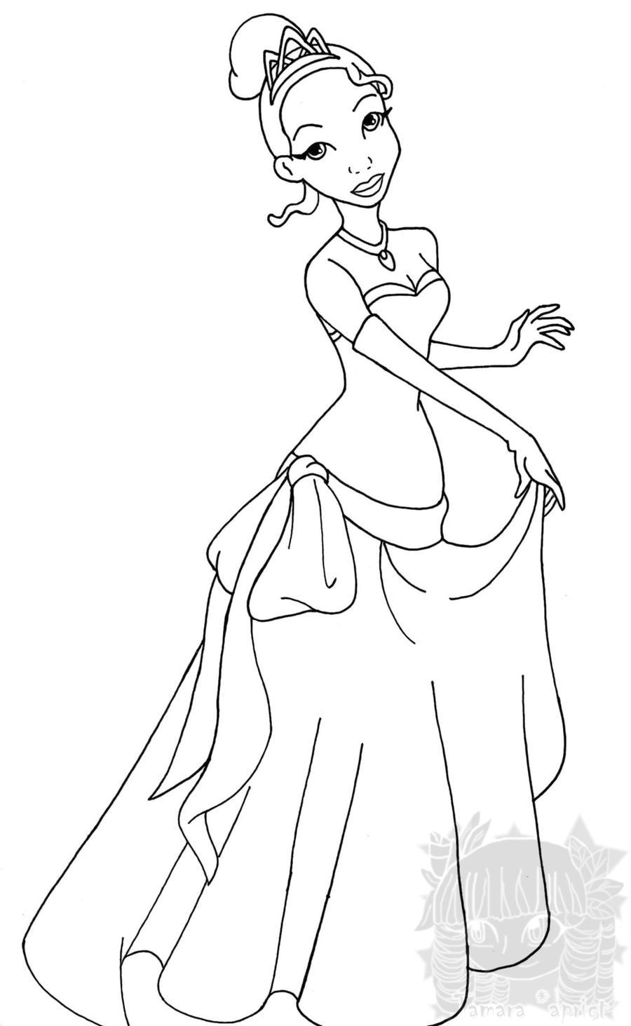 Princess Tiana Disney Coloring Pages. PRINCESAS DISNEY PARA COLOREAR ...